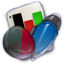 128x128px size png icon of App Office Presentation