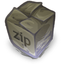128x128px size png icon of Filetype zip