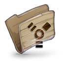 128x128px size png icon of Folder Firewire