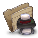 128x128px size png icon of Folder printers