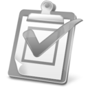 128x128px size png icon of Task Report Disabled