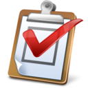 128x128px size png icon of Task Report Regular