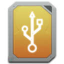 128x128px size png icon of drive external usb
