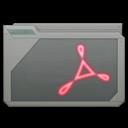 128x128px size png icon of folder adobe acrobat