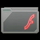128x128px size png icon of folder adobe flash alt