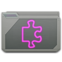 128x128px size png icon of folder library alt
