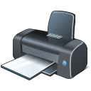 128x128px size png icon of 1 Normal Printer