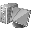 128x128px size png icon of 3 Gray Computer