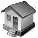 128x128px size png icon of 3 Gray Home