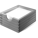 128x128px size png icon of 3 Gray Paper Box