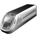 128x128px size png icon of 3 Gray Train