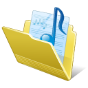 128x128px size png icon of Folder my music