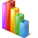 128x128px size png icon of chart