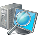 128x128px size png icon of computer search