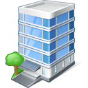 128x128px size png icon of office building