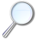 128x128px size png icon of Search Magnifier