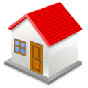 128x128px size png icon of house