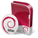 128x128px size png icon of Debian disc