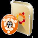 128x128px size png icon of Ubuntu disc
