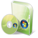 128x128px size png icon of Vista home basic disc