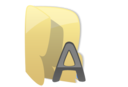 128x128px size png icon of Fonts folder