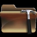 128x128px size png icon of folder developer