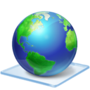 128x128px size png icon of Windows 7 earth