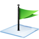 128x128px size png icon of Windows 7 flag green