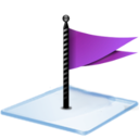 128x128px size png icon of Windows 7 flag purple