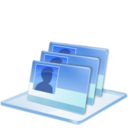 128x128px size png icon of Windows 7 identity