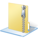 128x128px size png icon of Windows 7 zip