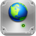128x128px size png icon of network drive online