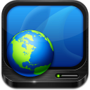 128x128px size png icon of network places