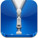 128x128px size png icon of zip file