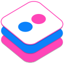 128x128px size png icon of Flickr 2