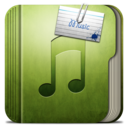128x128px size png icon of Folder Music Folder