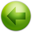 128x128px size png icon of Arrow Left