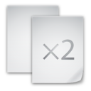 128x128px size png icon of Copy File