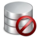 128x128px size png icon of Delete Database
