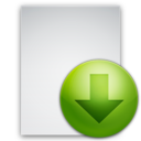 128x128px size png icon of Download File