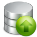 128x128px size png icon of Upload Database