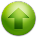 128x128px size png icon of Alarm Arrow Up