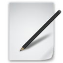 128x128px size png icon of Files Edit file