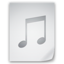 128x128px size png icon of Files Music File