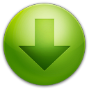 128x128px size png icon of alarm arrow down