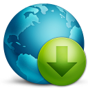128x128px size png icon of network download