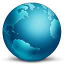 128x128px size png icon of network globe connected