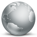 128x128px size png icon of network globe disconnected