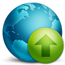 128x128px size png icon of network upload