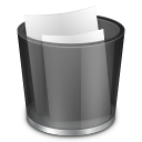 128x128px size png icon of start menu recycle bin full